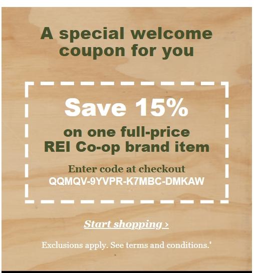 Rei coupon code 2018