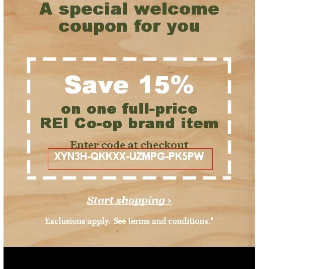 Rei.com coupon code