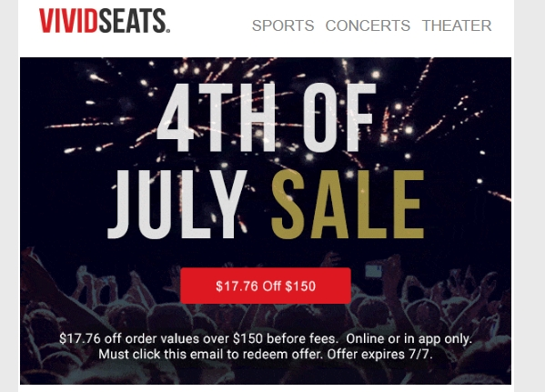 Vivid seats discount coupon 2018