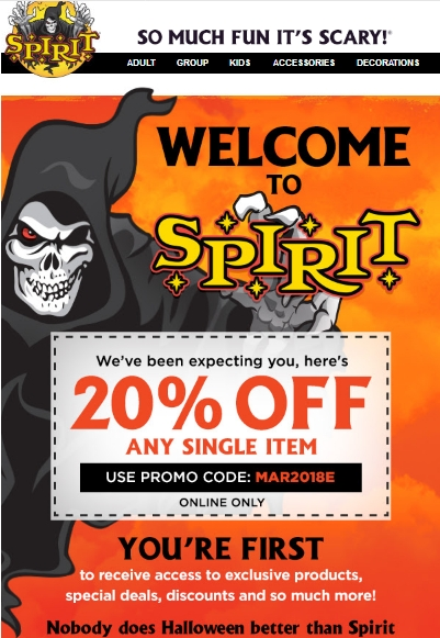 graphic relating to Spirit Halloween Coupon Printable named Spirithalloween com coupon codes : Dockers retail outlet singapore