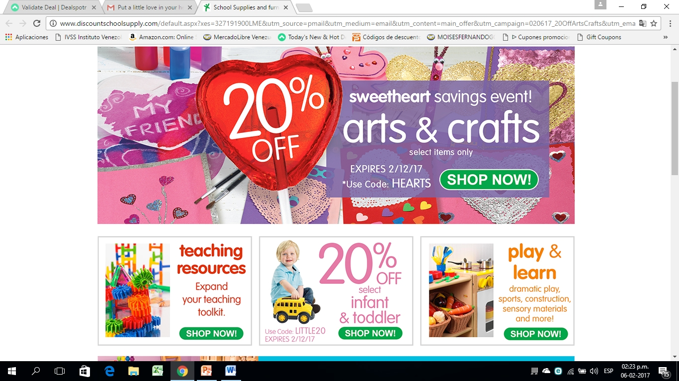 Discount school supply coupon free shipping