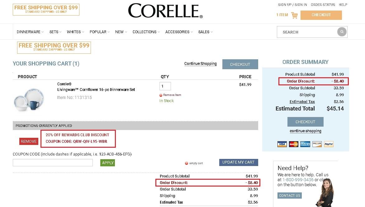 Corelle coupon code 2018