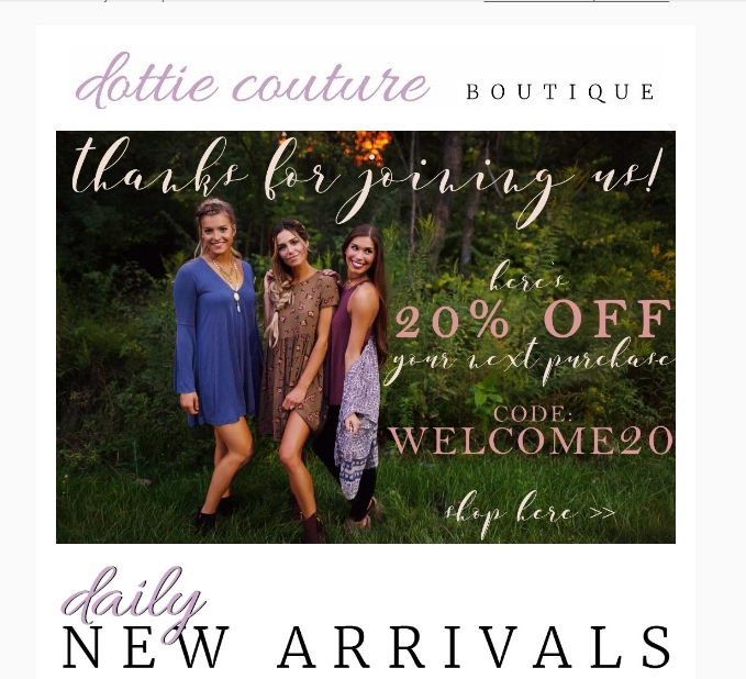 Dottie Couture Boutique Coupons & Promo Codes: 20% OFF 20% off Get Deal For Dottie Couture Boutique we currently have 3 coupons and 0 deals. Our users can save with our coupons on average about $ Todays best offer is Save 20% Off + Free Shipping using Coupon Code.