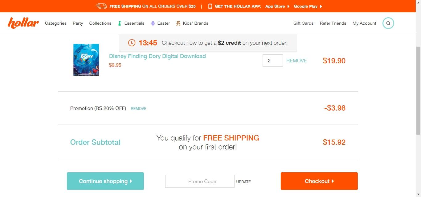Hollar coupon code