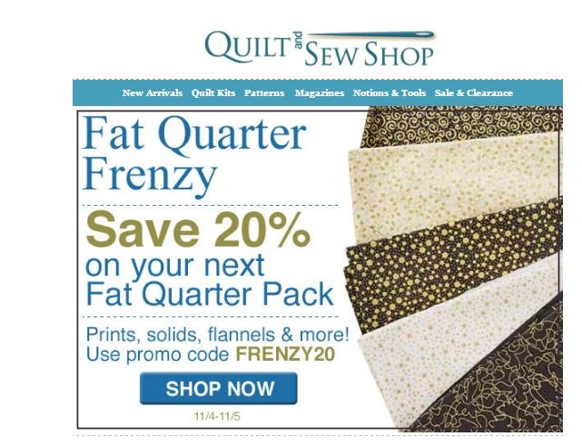 Fat quarter shop coupon code