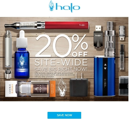 Halo cigs coupon code february 2018