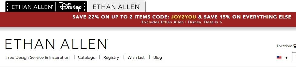 Ethan allen coupons discounts