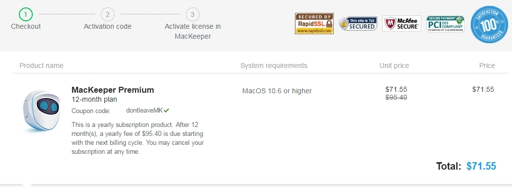 Mackeeper coupon code