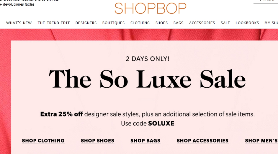 Shopbop coupon code