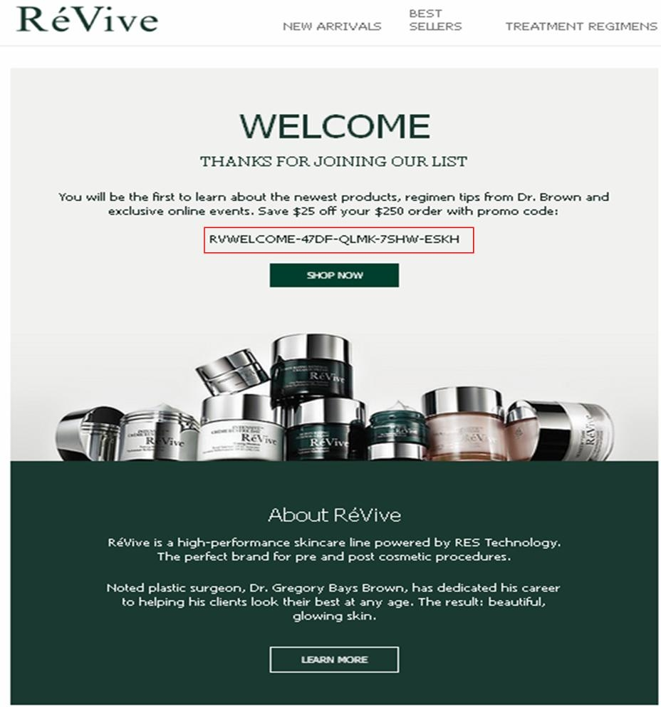 Revive coupon code