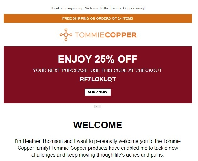 Discount coupons for tommie copper