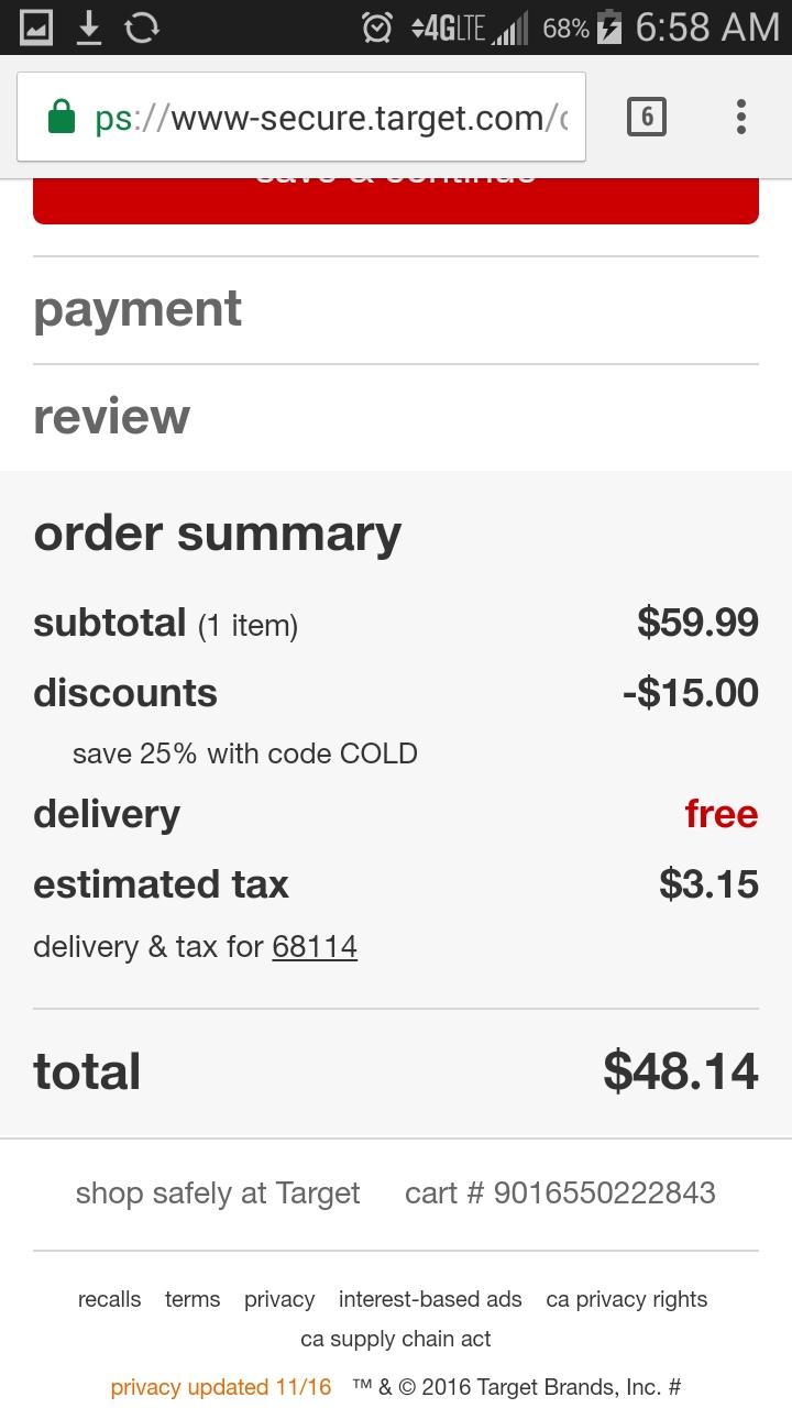 20 off target coupon code
