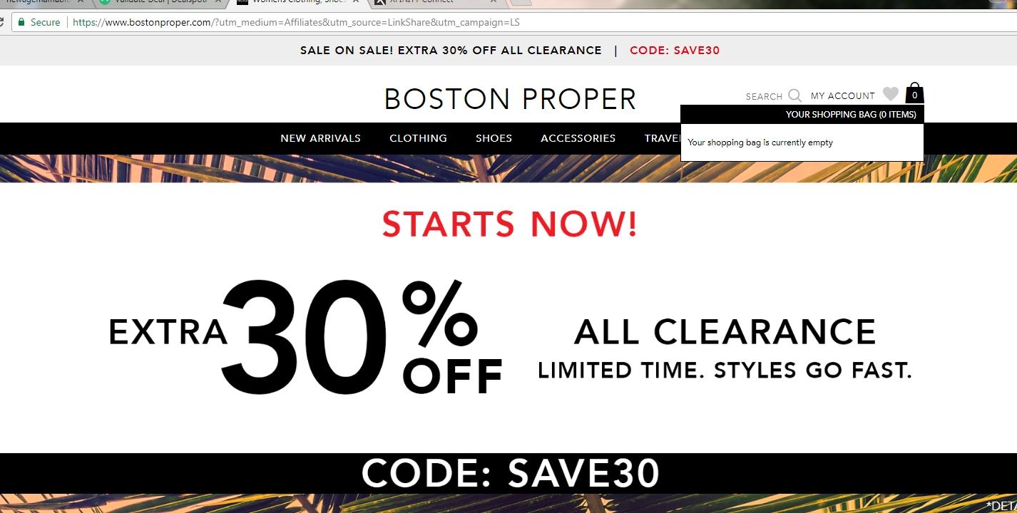 Boston proper coupon codes sep 2018