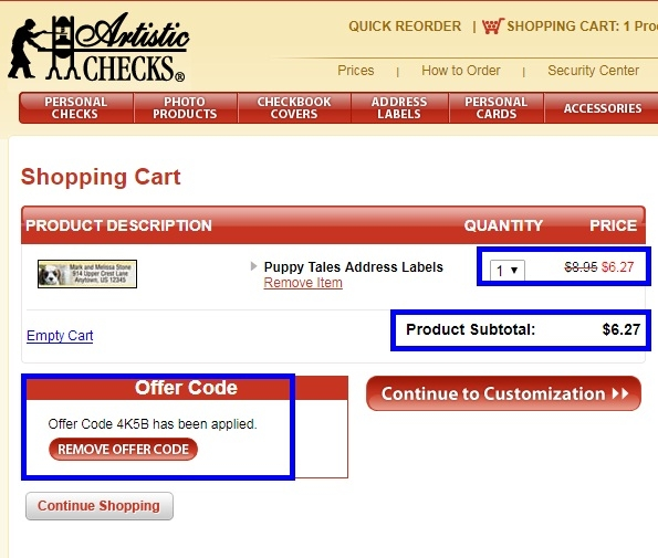 Artistic checks coupon code