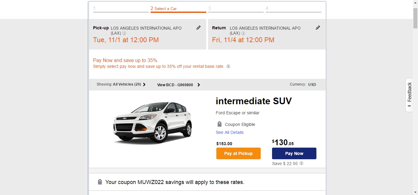 Budget car coupon code
