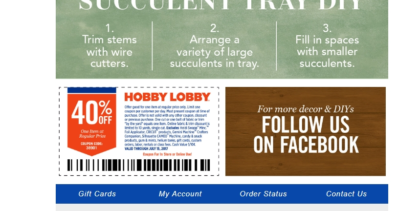 photograph relating to Hobby Lobby Coupon Printable called 40 off printable coupon interest foyer : Dora coupon code