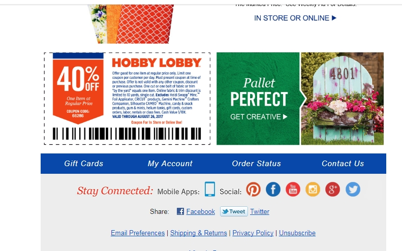 Hobby Lobby Coupon 50 Off Bug Spray Coupons Canada 2018