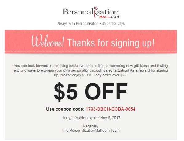 Personalizationmall.com coupon code