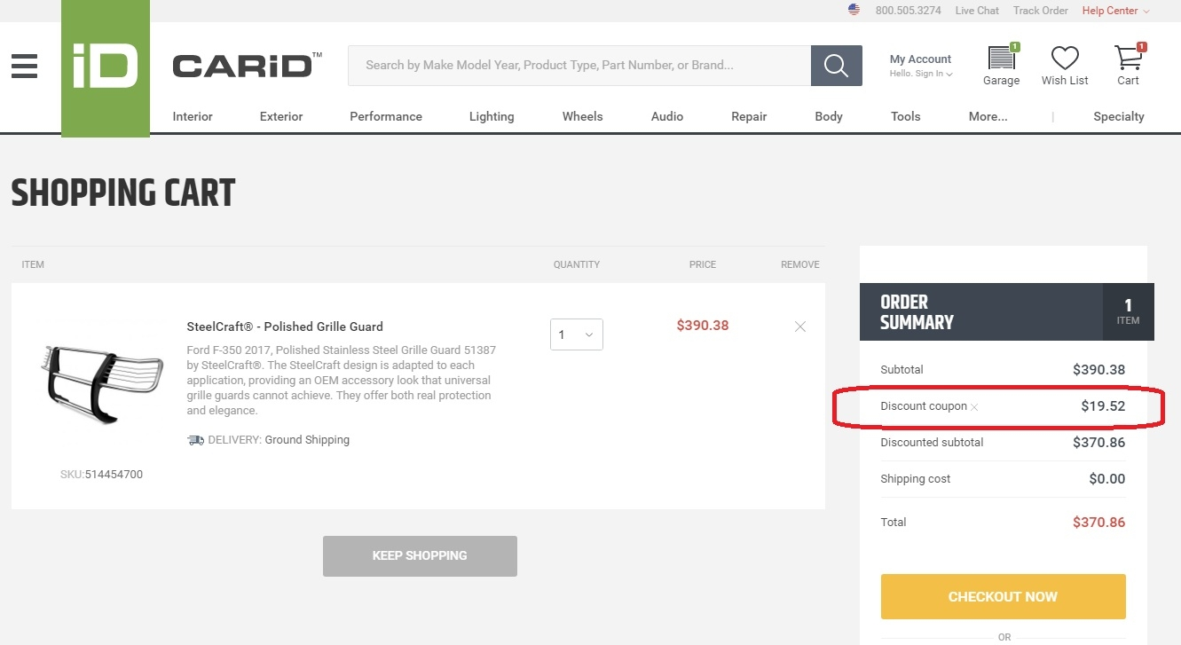 Carid discount coupons