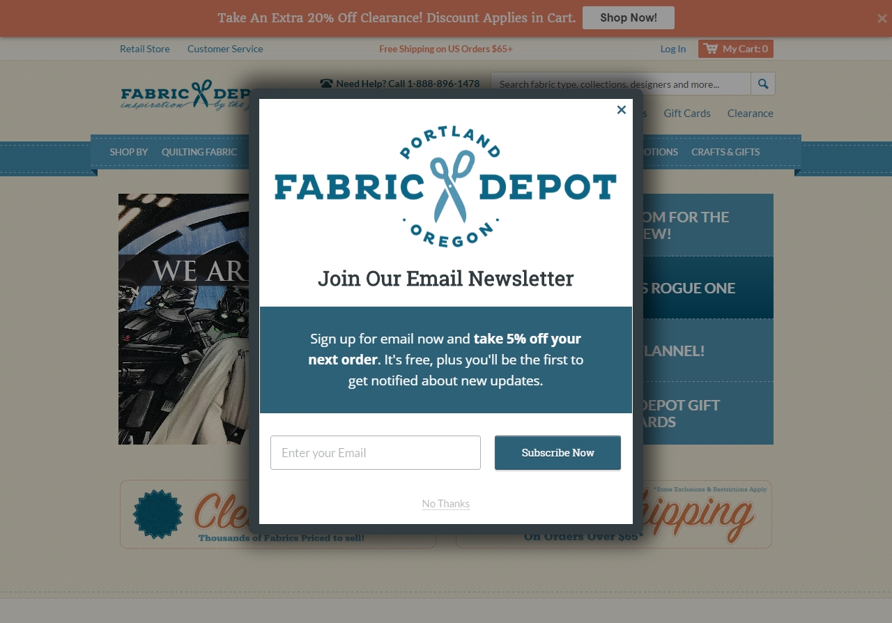 Fabric com coupon code 2018