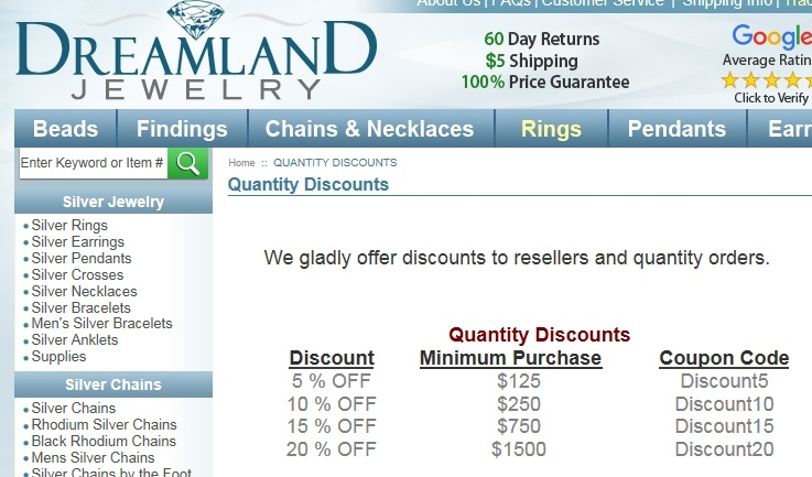 Dreamland jewelry coupon code