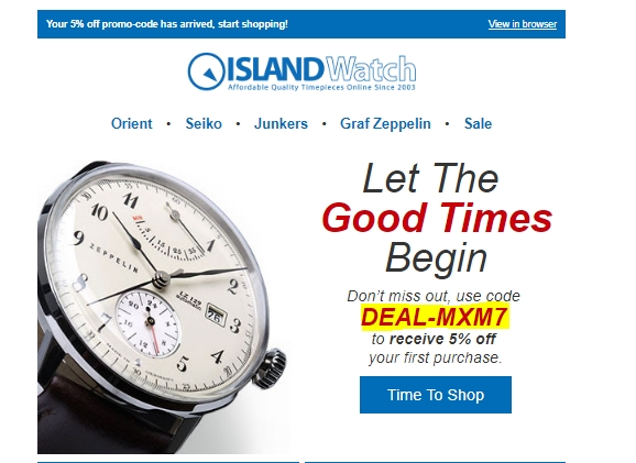 Long island watch coupon code 2018