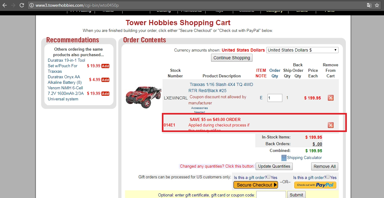 Traxxas coupon code