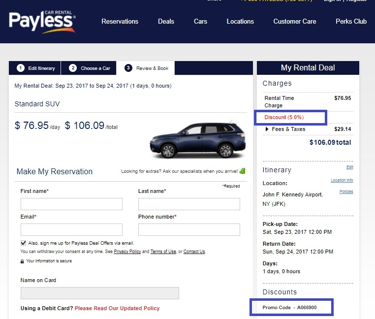 Groupon Payless Rental Car