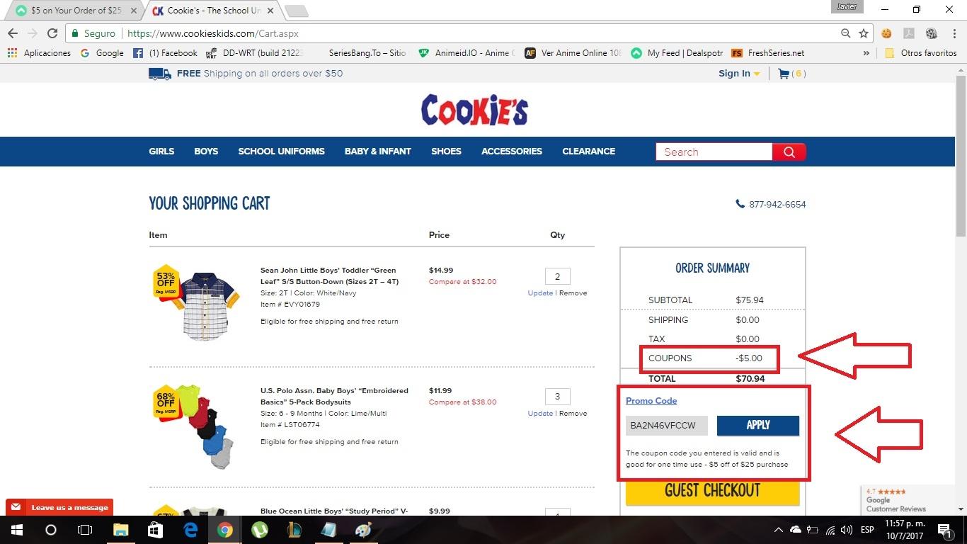 Cookieskids coupon 2018