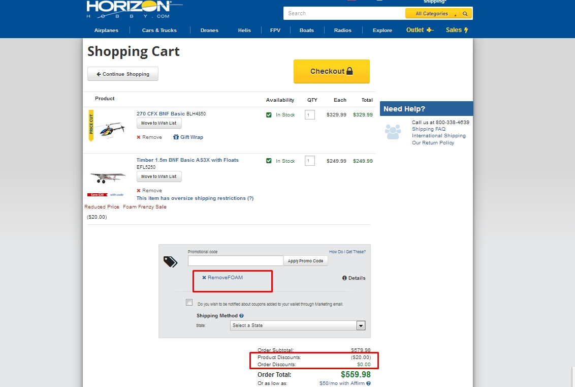 Horizon hobby coupons promo codes