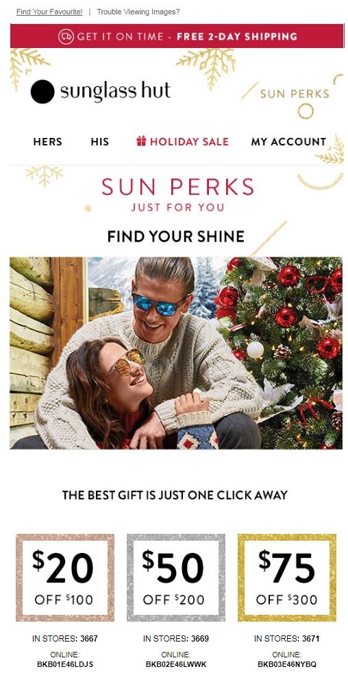 Sunglass hut coupon code