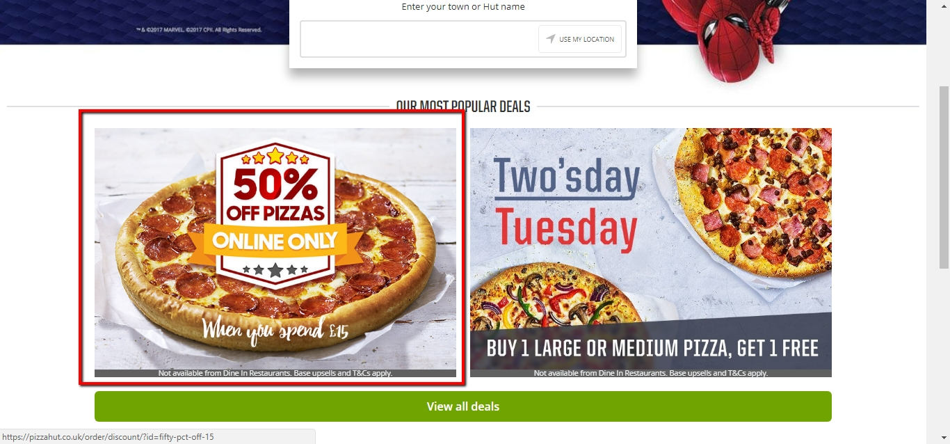 Popular Pizza Hut Coupon Codes