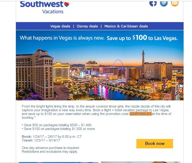 Save with Southwest Vacations promo codes and coupons for December Today's top Southwest Vacations offer: Up to $ off. Find 3 Southwest Vacations coupons and discounts at herelfilesvj4.cf Tested and verified on December 05, %(78).