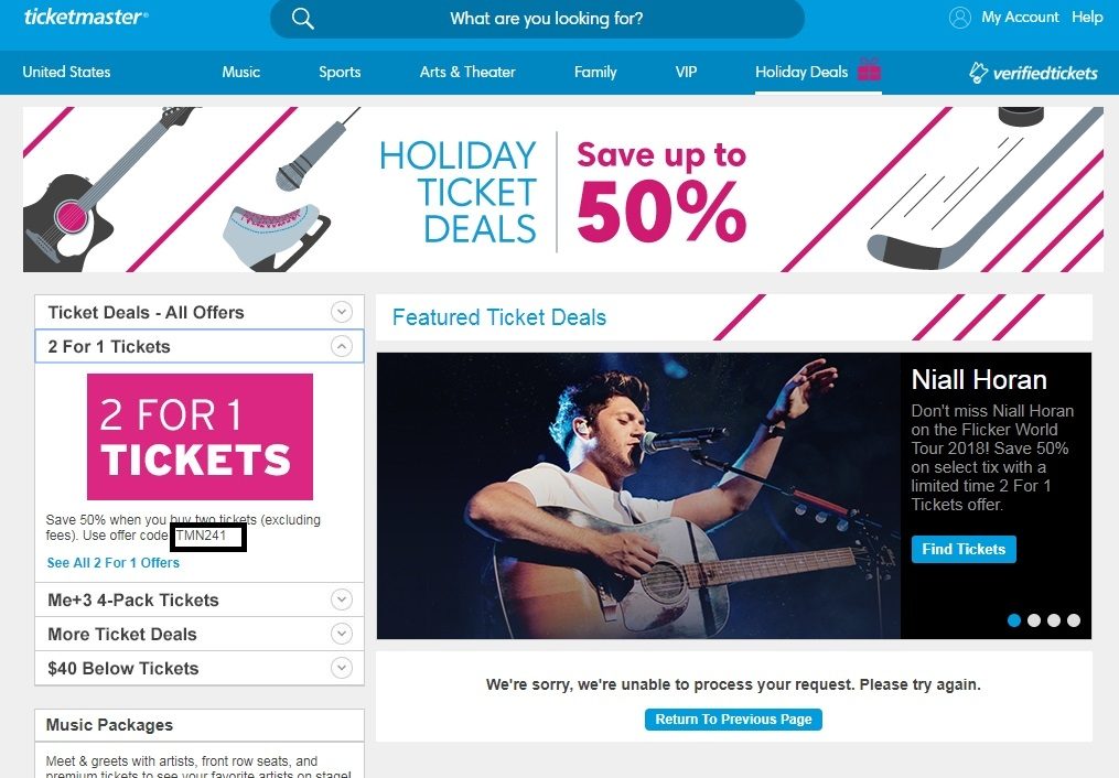 Ticketmaster coupon code