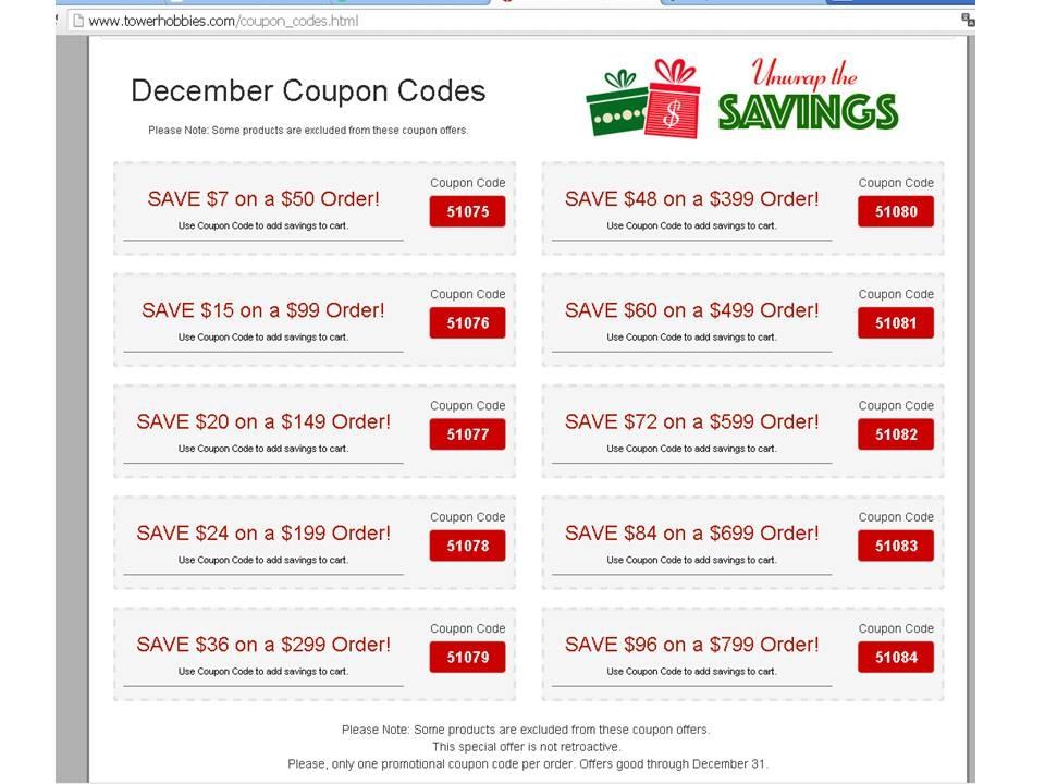Tower hobbies coupon codes