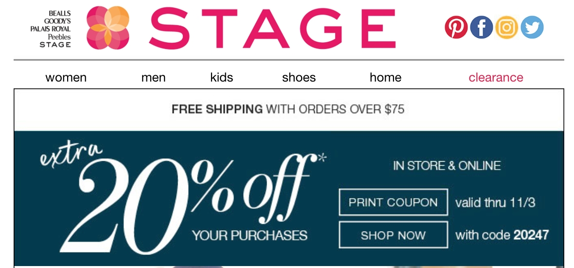 Broad stage discount coupons