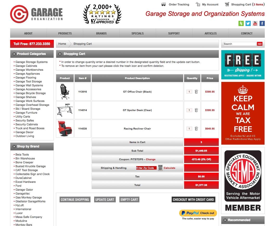 76% f Garage Organization Coupon Code
