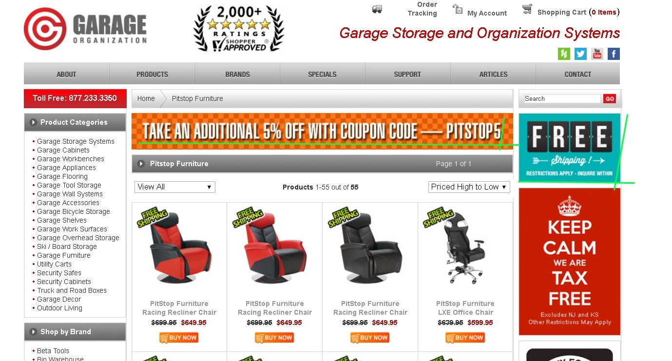 Coupon code garage appeal