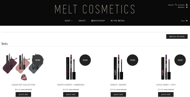 Melt cosmetics coupon code