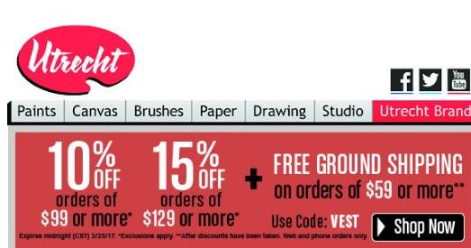 Utrecht art coupon code
