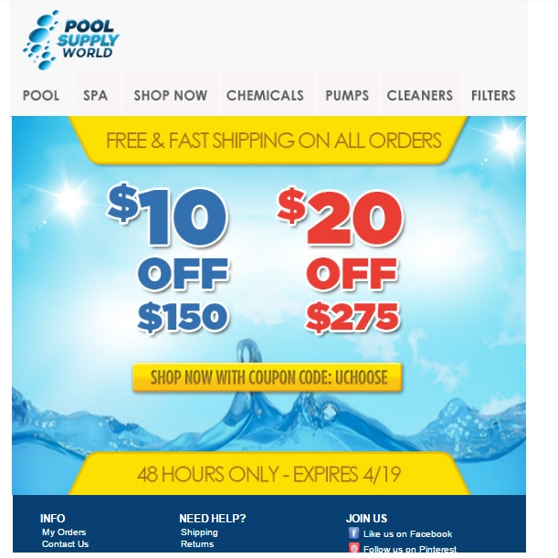 Pool supply world coupon code