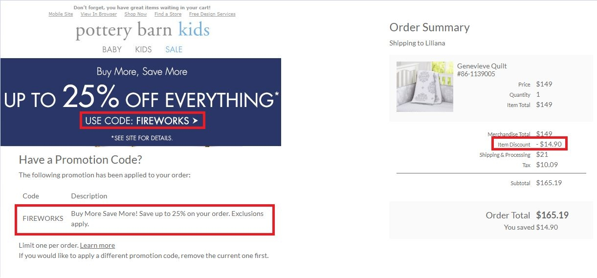 20 Off Pottery Barn Kids Coupon Code 2017 Promo Code