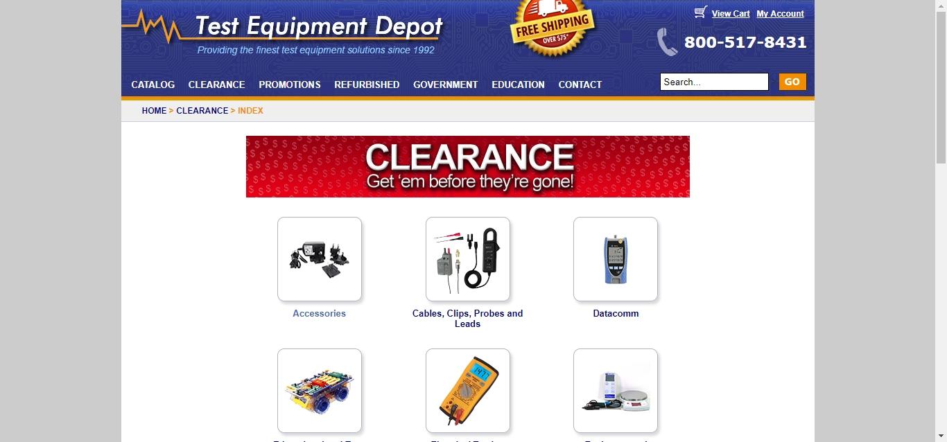 Test equipment depot discount coupons