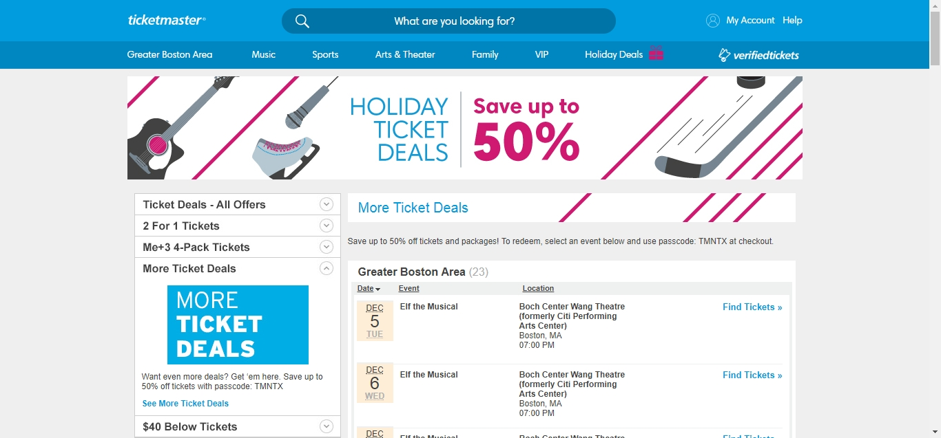Ticketmaster coupon code 2018