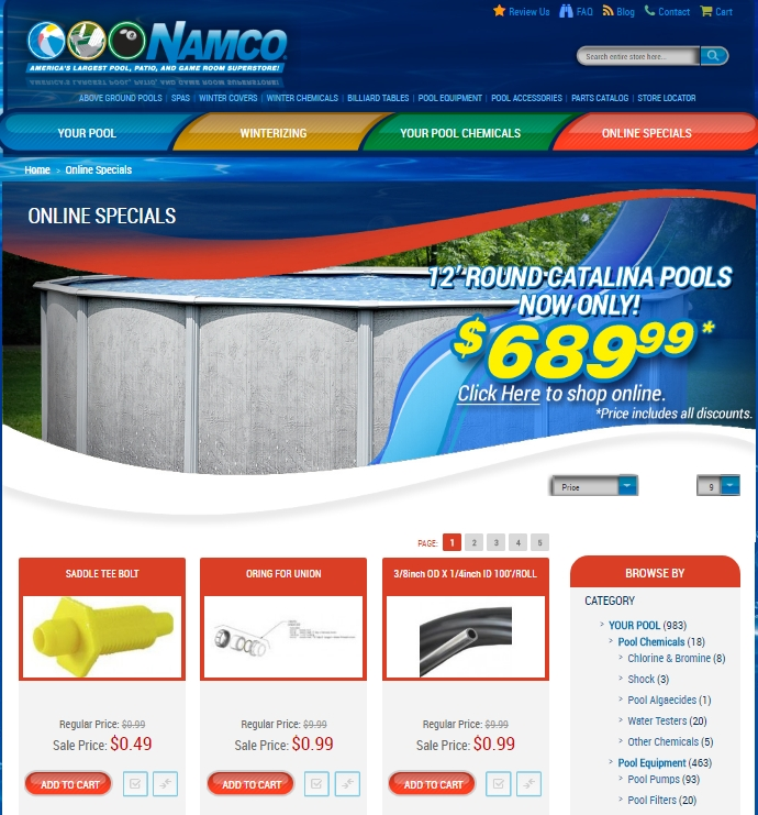 75 off namco pool and patio super store coupon codes 2017 for Namco pools
