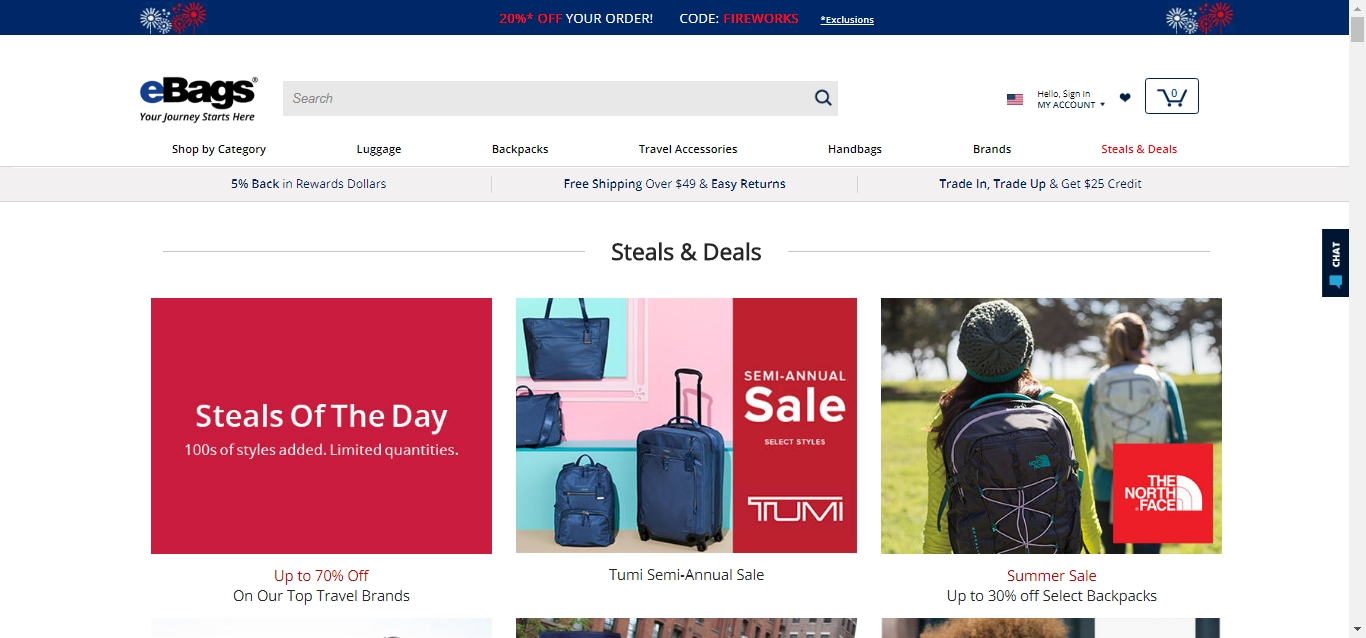 eBags Promo Codes. 33 Coupons $9 Average savings. There's a bag for every purpose and occasion at cbsereview.ml It's the largest online retailer for bags of every kind from handbags to luggage, messenger bags, backpacks and duffels. eBags guarantees your satisfaction with every bag you buy with their 60 day money back policy -- and they'll even.