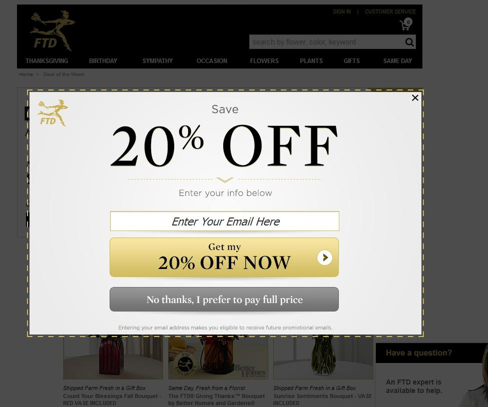 Ftd coupons codes