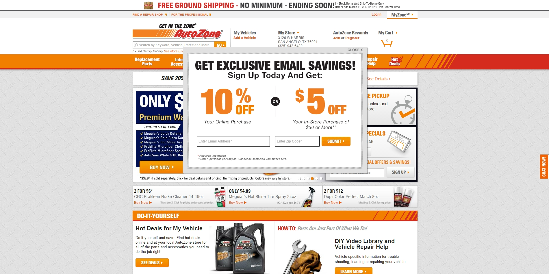 Coupon codes for autozone