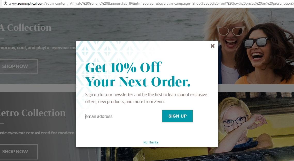 Www zennioptical com coupon code