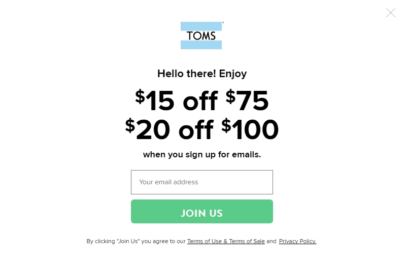 They even have wedges for breezy summer evenings! For men, they carry a wide range of slip-on styles, as well as sneakers, boots, and more. No matter the style, get the best deals around with a Toms coupon or promo code. For both men and women, Toms also has created a line of signature Toms .
